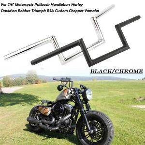 7-8-034-22mm-Guidon-Z-Handlebar-Moto-Bobber-pour-Honda-Yamaha-Suzuki-Kawasaki-Harley