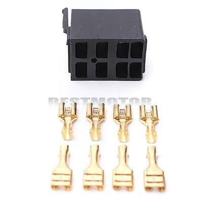8 Pcs Female Spade Terminals & 1 Rocker Switch For ARB Socket Plug Carling Style
