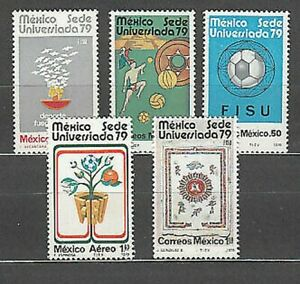 Mexico - Mail 1979 Yvert 870/2 + A 501/2 MNH Sports