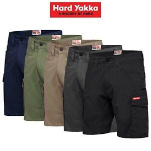 Mens-Hard-Yakka-3056-Cargo-Shorts-Cotton-Ripstop-Tradie-Tough-Stretch-Y05100