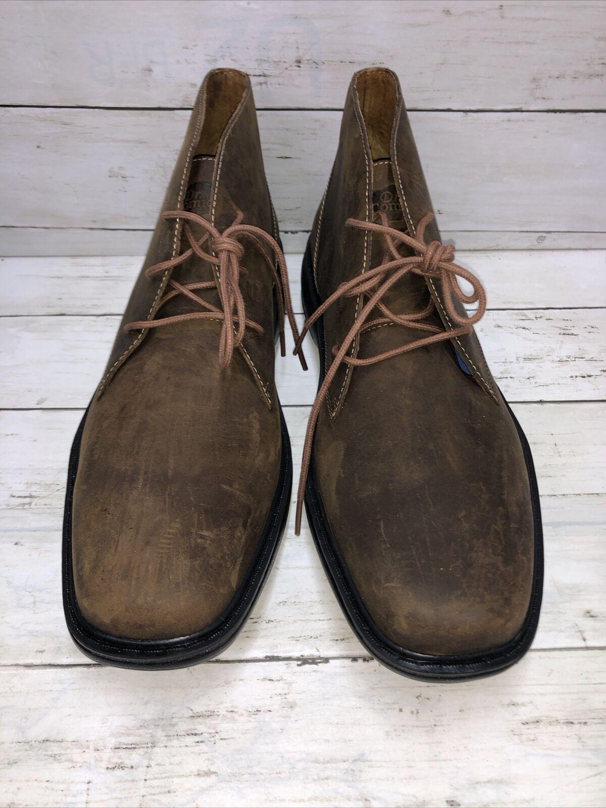 D9 Dr Comfort Ruk 7920 Men's Sz 11M Brown Leather Chukka Boots Pressure Relief