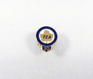 Vtg-Rare-Trans-Canada-Airline-TCA-10K-10-Years-of-Service-Employee-Pin-Badge