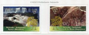 19494a-UNITED-NATIONS-Vienna-2007-MNH-UNESCO-Brasil-Argentina
