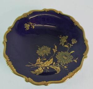 Lindner-Zierschale-Goldaster-Kobaltblau-amp-Gold
