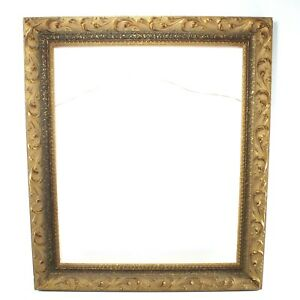 Vintage-Ornate-Gold-Gesso-Wooden-Painting-Print-Picture-Frame-23-x27-1-2-Inner