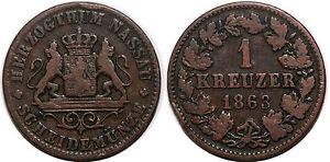GERMANIA-NASSAU-1-KREUZER-1863-KM-74