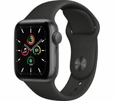 APPLE Watch SE Space Grey Aluminium with Black Sports Band 40mm - Currys