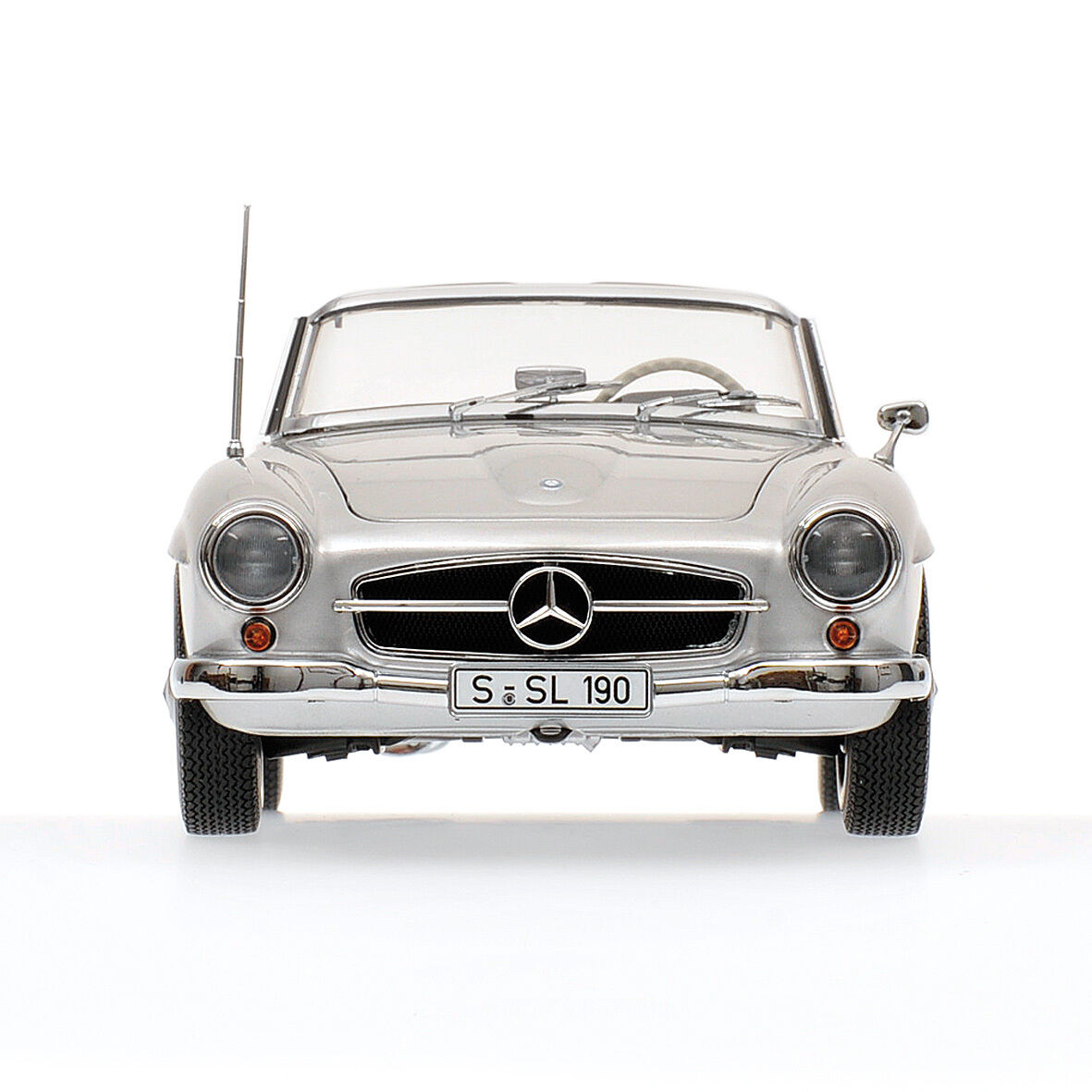 Minichamps 1955 Mercedes 190SL (W121) Cabriolet argentoo Coloreee 1 18 New Release