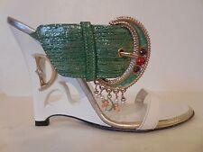 $355 New Sz.6US/36EU Women's Dibrera by Paolo Zanoli bucle Wedge Sandals (ITALY)