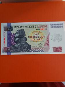 zimbabwe one tredecillion