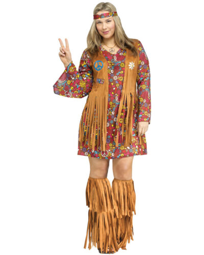 CL152 Peace /& Love 60s 70s Go Go Retro Hippie Dancing Groovy Disco Fancy Costume