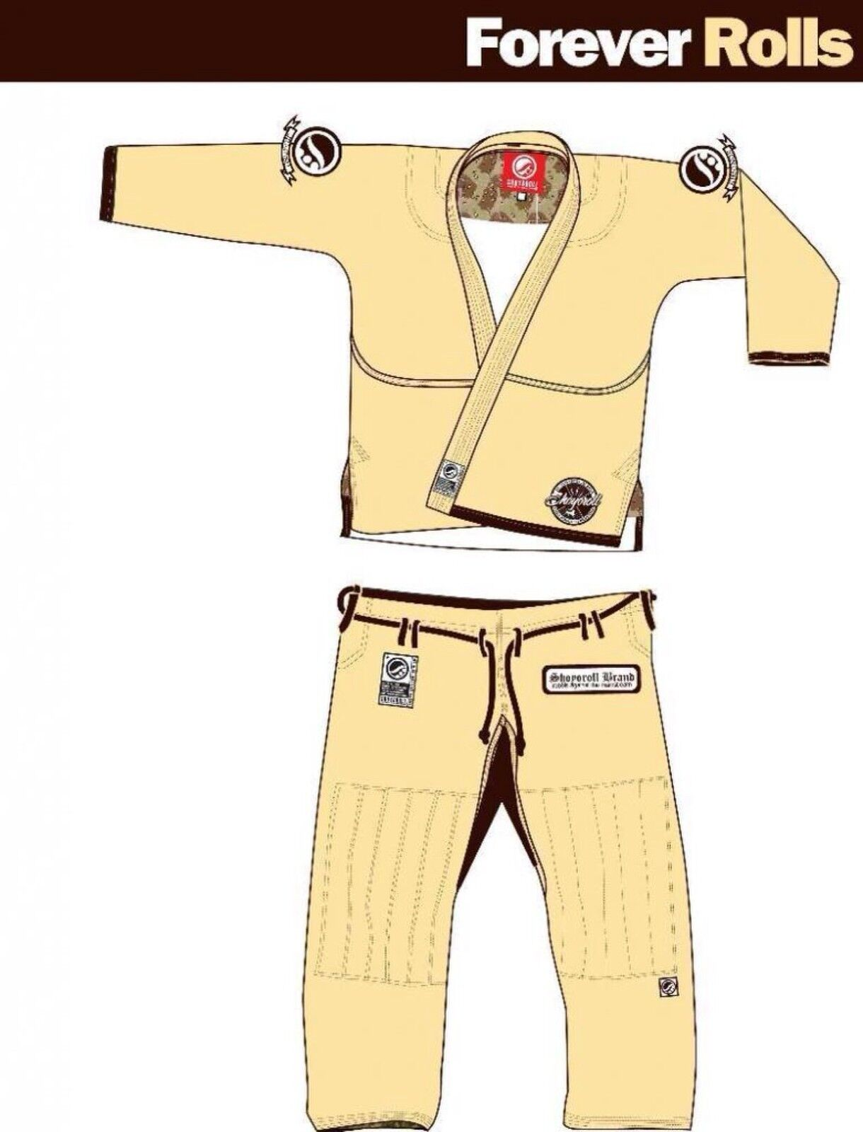 Shoygoldll Forever Rolls V1 Unbleached Brand New bjj gi kimono jiujitsu