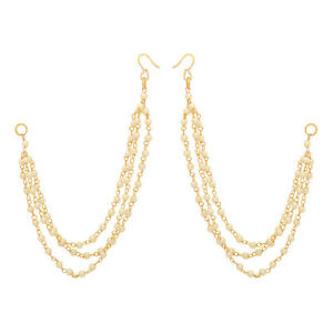 2e0eb53333dc9 Jwellmart Indian Bollywood Gold Plated Faux Pearl Earring support ...