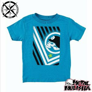 88a87597c Details about METAL MULISHA 'BAR CODE' BOYS T-SHIRT AGE 4 5~6 10~11 LIME  BLUE GREY RRP £15-18