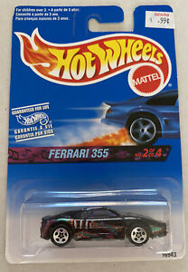 1997 355 HotWheels FERRARI F355 BERLINETTA NERA! Nuovo di zecca! MOC!