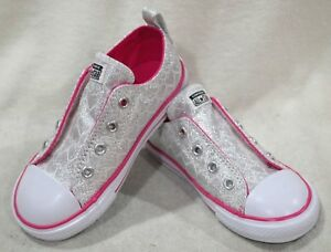 553e1a25d09a0a Converse CT All Star Simple Slip OX Silver Pink Toddler Girl s ...