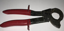 Klein Tools 63060 Ratcheting Red Cable Cutter Wire Cutters Made In Japan