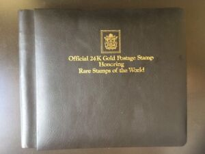 Details about Rare Stamps of the World book 24k gold