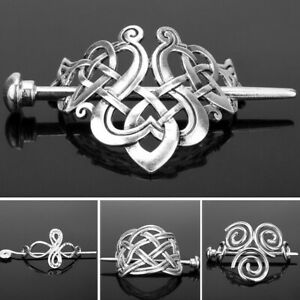 VINTAGE-Women-Norse-Stick-Slide-Viking-Hairpins-Celtics-Knots-Hair-Clips
