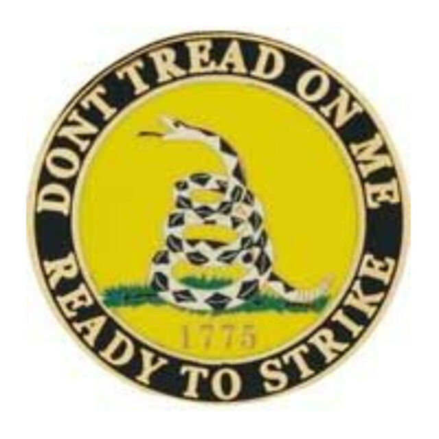 Don't Tread On Me Ready To Strike Military Lapel Pin