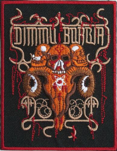"DIMMU BORGIR Skull Iron On Sew On Embroidered Patch 3.8/""x3/"""