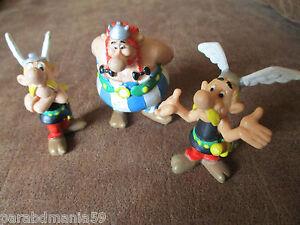 Vente-Goscinny-Uderzo-Lot-anciennes-figurines-M-D-toys-Belgium-Annees-90