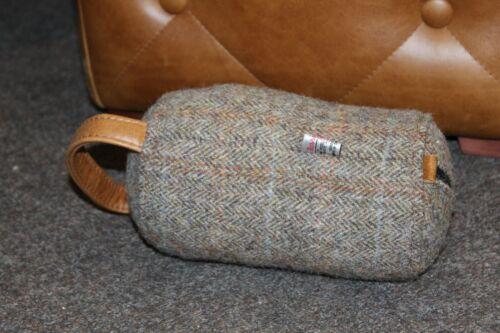 Harris Tweed guardabosques /& Brown anilina de cuero Tope de puerta