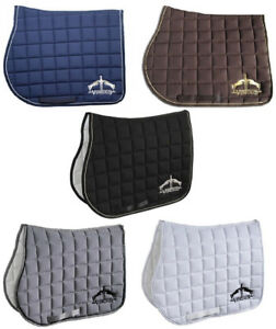 Veredus-Microfibre-DRESSAGE-JUMP-SADDLECLOTH-Square-Black-White-Navy-Grey-Brown