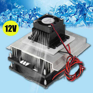 12V-6A-Thermoelectric-Peltier-Refrigeration-Cooling-System-Kit-Cooler-Fan-DIY-W