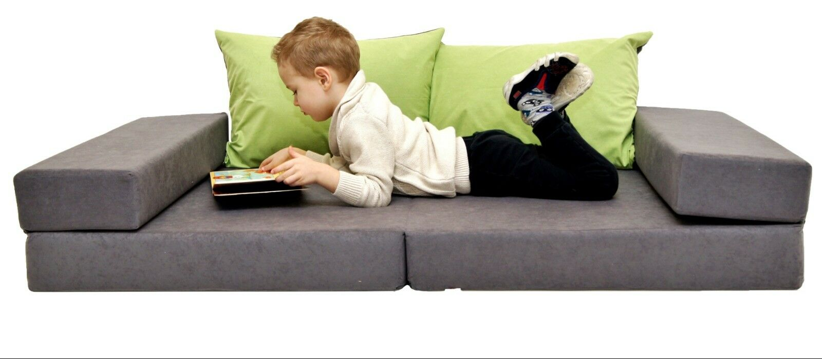 Kids matelas petits enfants Canapé mousse Kids Sofa Set + 2 Oreillers 160 x 80 200 x 80 cm