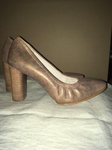 Ladies D Heels Grace 7 High New 5 Eva Shoes Metalic Bronze Clarks Court Size 17q1wArT