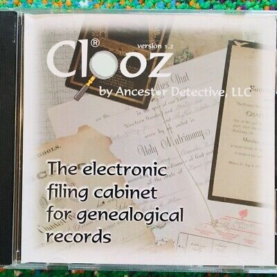 Clooz Pc Cd Electronic Genealogical Genealogy Research Data Tools Software V1 2 Ebay