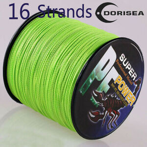 16-Strands-100M-2000M-20-300LB-Fluorescent-Yellow-Hollow-pe-Braided-Fishing-Line