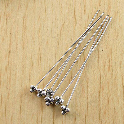 25HANDMADE Tibetan silver Head Pin W// Unique head h0601