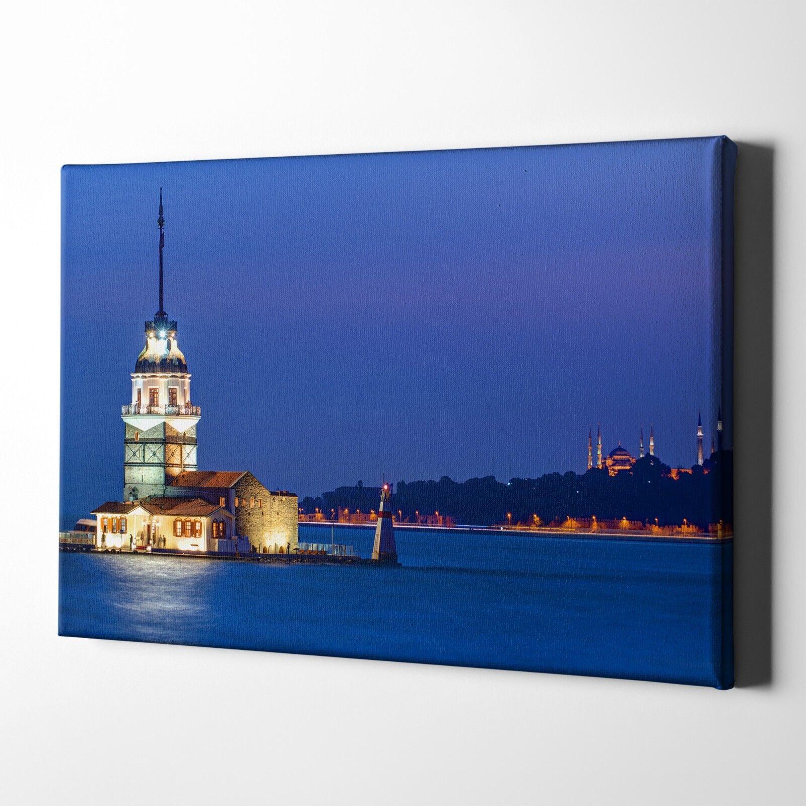 Leanderturm Kiz Kulesi Mädchenturm Foto-Leinwand inkl. Keilrahmen   Poster
