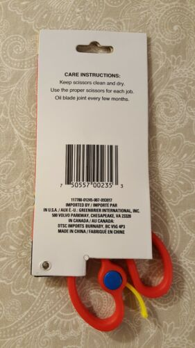 """Red /""""Special Needs Child/"""" Safety Scissors with lift assist"""