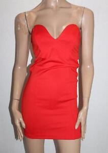 SUPRE-Brand-Red-After-Party-Bodycon-Strapless-Dress-Size-XS-BNWT-SG36