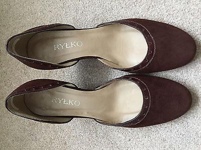 Aldo Cuña De Cuero Gamuza Marrón Chocolate para mujeres Damas Zapatos Talla EU 36.5 UK 3.5