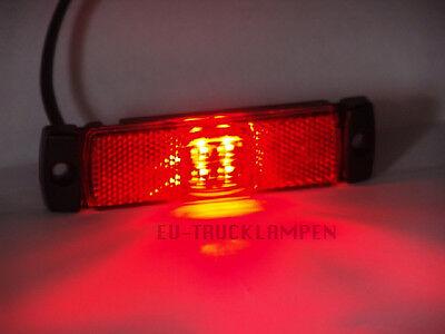 130 x 32 MM // UNTERBAUVERSION WEIß REFLEKTOR MIT 4 LED LED UMRISSLEUCHTE
