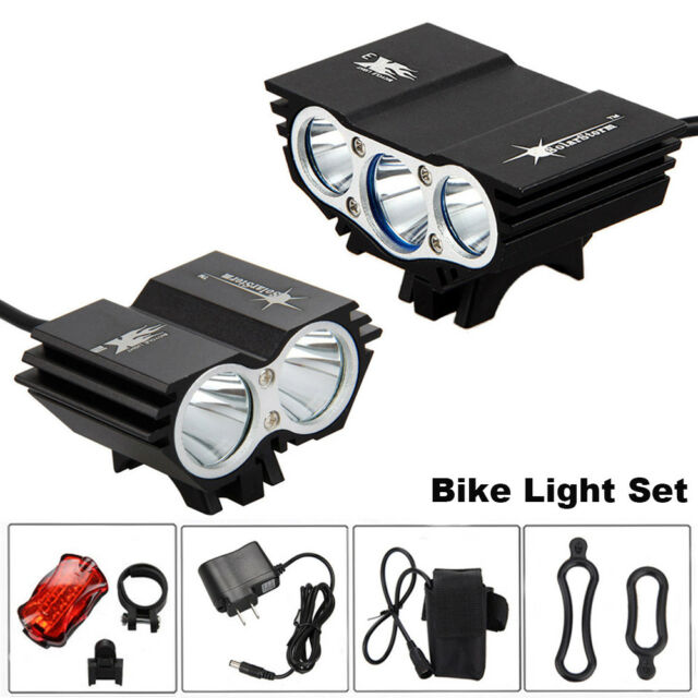 Solar Storm 8000LM X2 CREE XM-L T6 USB Waterproof Lamp LED Bicycle Headlight KY