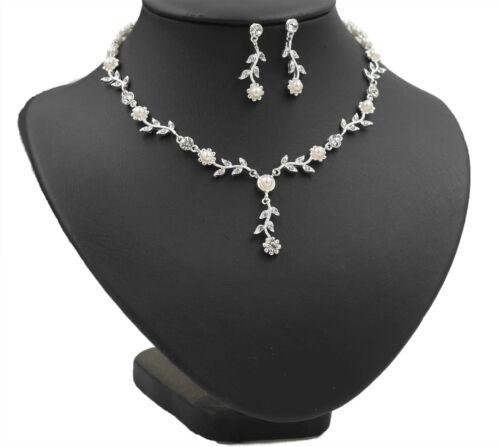 Emmerling Brautschmuck Set Perlen ivory Kette Ohrringe Hochzeitsschmuck