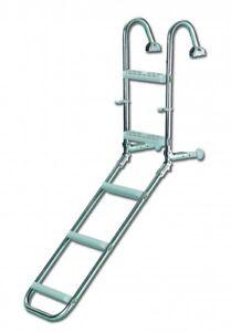 klappbare boarding leiter edelstahl 5 stufen badeleiter leiter klappleiter 4250 4250521711718 ebay. Black Bedroom Furniture Sets. Home Design Ideas
