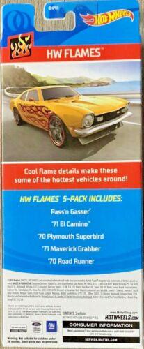 Hot Wheels 2020 HW Flames 5 Vehicle Gift Pack #GHP60 1:64 Scale Diecast