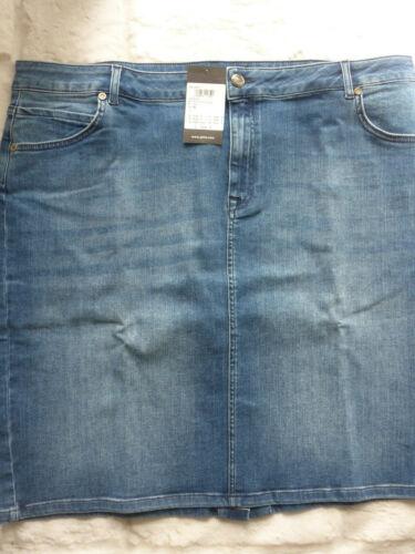 46 bis 52 Blue große Größen Jeansrock Jeans Rock Stretch Marken Gr NEU 834