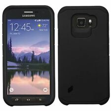 for Samsung Galaxy S6 Active Hybrid Shockproof Dual Layer Hard Case Cover Black