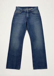 Calvin-klein-jeans-uomo-usato-gamba-dritta-W30-tg-44-denim-boyfriend-blu-T5567
