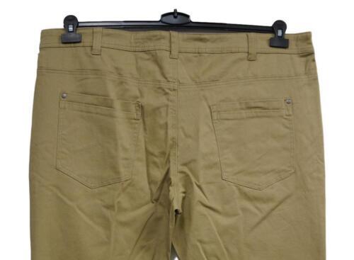 NUOVO MISURE GRANDI Uomo Stretch Pantaloni Beige sede permanente pieghe inchgr .40 44,48