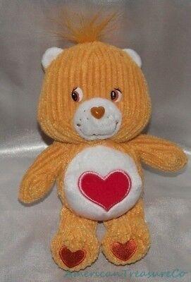 """2003 Care Bears Speciale Ed. Peluche 8 """" Morbido Marrone Dorato Cordura Facile Da Lubrificare"""