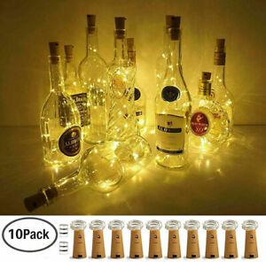 10X-20-LED-Flaschenlicht-Weinflasche-Kork-Lichterkette-Nachlicht-Party-Light-DE