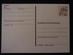 Ganzsache-P124-II-Postkarte-mit-Antwortkarte-jeweils-ungebraucht-b6442